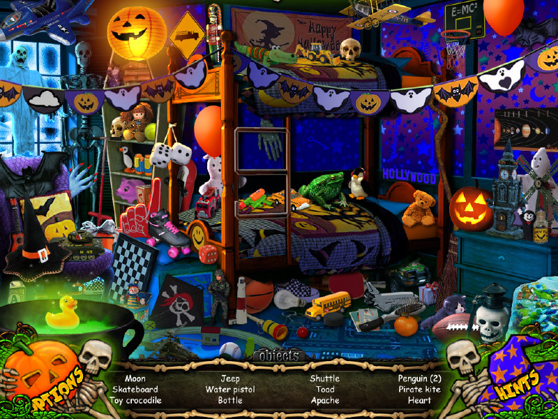 Halloween Hidden Object Games level 1 Put On Your Favorite Costume And Turn The Lights Off As You Play Halloween Trick Or Treat Game Features